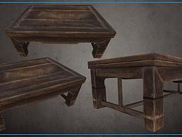3D美术《老木桌》