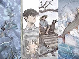 """《牧铃""""动物江湖""""系列小说》封面绘制"""