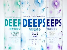韩国海洋深层水 Deeps包装设计