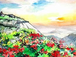 【悠然三明】手绘风景明信片
