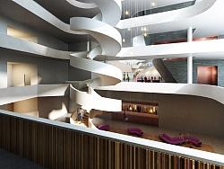 剧院入口公共空间-(建筑表现效果图)