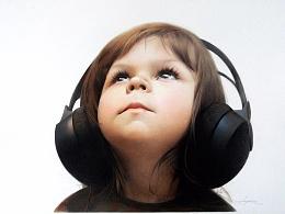 彩铅人物-聆听-EveXu
