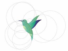 尺规LOGO-青蜂鸟