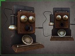 3D美术《老式电话》