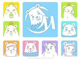 北极熊一家-吉祥物设计