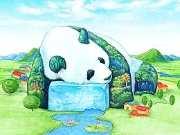 熊猫四季——夏