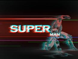 glitch效果-Superman