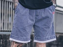HELL BOY X VEGORRS 条纹 短裤