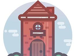 UI矢量,房子,城堡