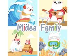 Midea Family海滩度假生活