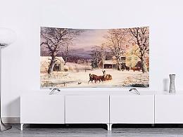 LED55UC3平板电视曲面4K电视天猫京东详情页描述