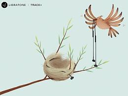 小鸟音响  TRACK+海报  参赛作品