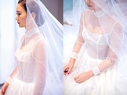 一件纯净的纱,兰奕婚纱设计作品