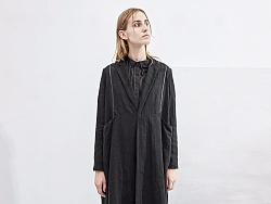 【花树果原创设计女装】2017秋装新款复古拼接风衣外套