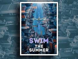 畅泳一夏-创意合成
