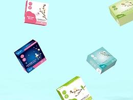 正昱设计-原创卫生巾包装设计-雪兰朵纯棉卫生巾