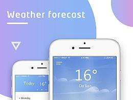 一款概念天气APP练习