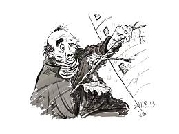 手绘-老头-梦境