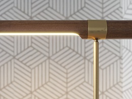 Linear Wood LED Table Lamp  共享模型