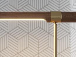 Linear Wood LED Table Lamp  共享模型
