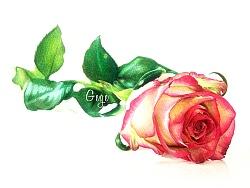 送你一朵玫瑰花~(彩铅玫瑰)