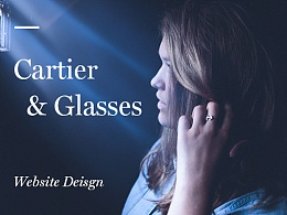 Cartier & Glasses Website Deisgn