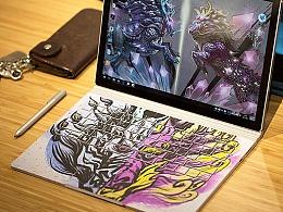 Surface Book 外观设计-《麒麟双生》