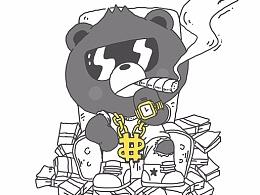 熊喵熊系列插图