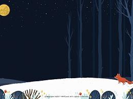 冬夜狐狸出没----诗歌内插