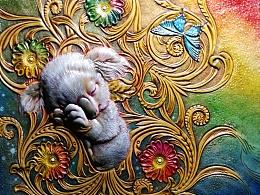 皮雕与皮塑的结合——《梦里花开》