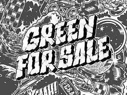 Green for sale  C&A#复古主题环保棉产品图案设计大赛