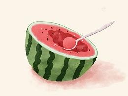 这么热的天,一起来吃西瓜!