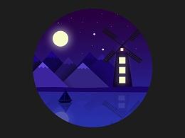 宁静的乡村之夜