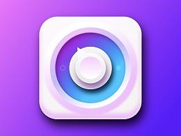 一枚用sketch画的紫蓝色的icon