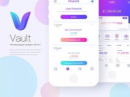 Vault 金融理财 app design