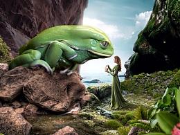 【教程十一】知巧社格林童话之青蛙王子创意合成海报教程