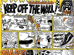 "VANS HOV主题 漫画 ""KEEP OFF THE WALL"""