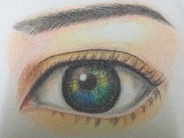 彩铅第一课----眼睛