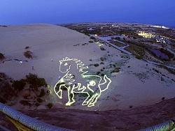 沙漠最大光绘涂鸦作品