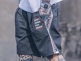 HELL BOY X VEGORRS 创意款字母印花 短裤