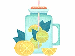 夏日饮料-临摹