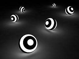 【C4D练习】黑白相间球体
