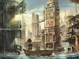 猪.鱼系列插画