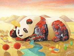 四季熊猫——秋