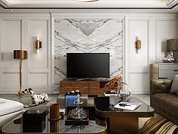 后现代风格客厅表现