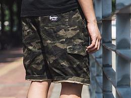HELL BOY X SABCIETY每个男生心中的那些迷彩情结短裤