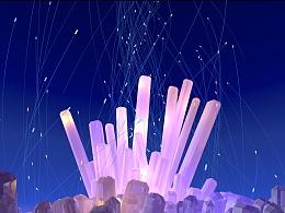 C4D闪闪发亮的水晶~