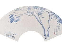 子木水墨作品扇面系列