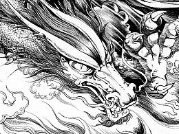 《钟馗传奇》漫画选页及绘制过程图