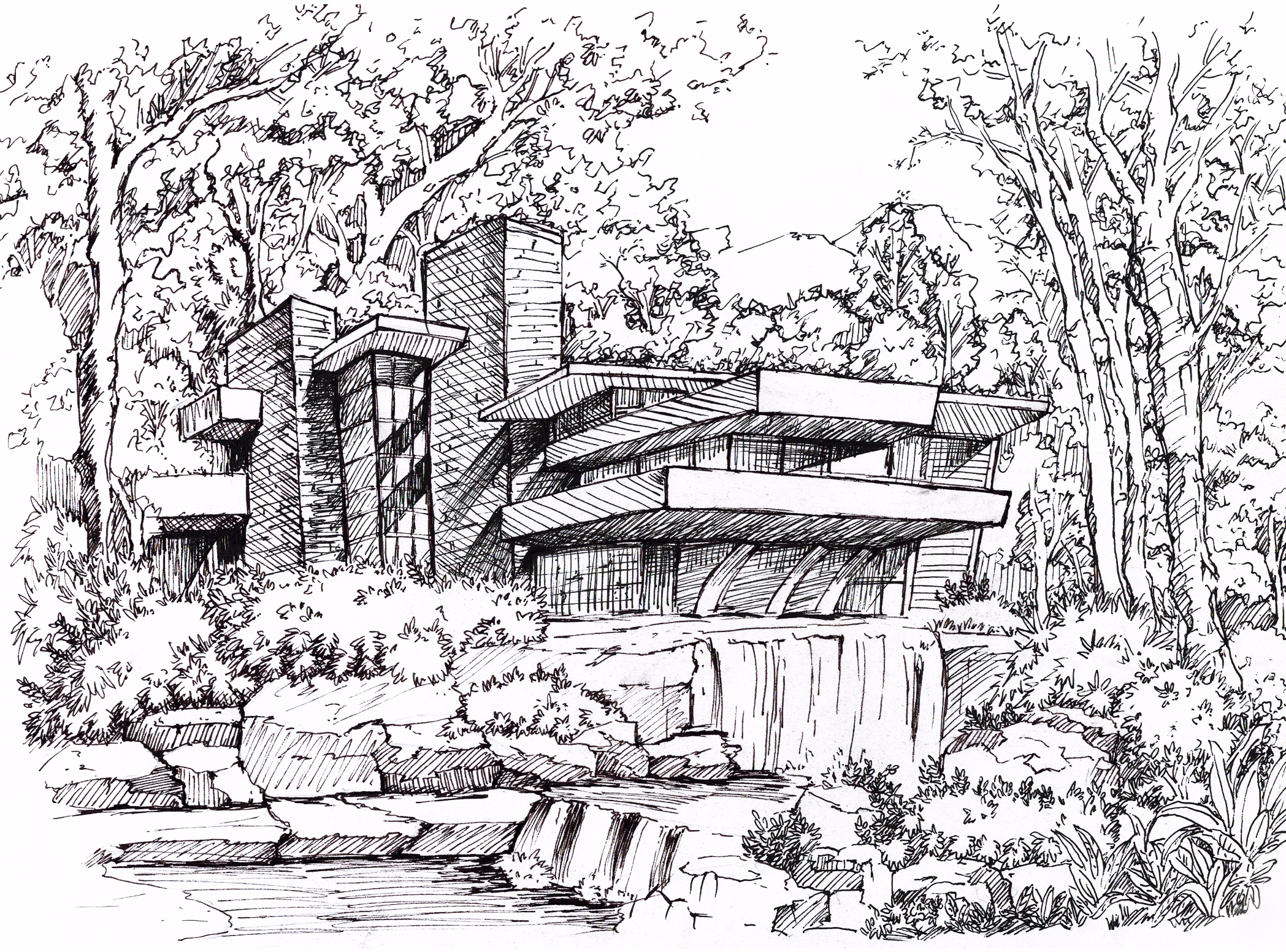 别墅庄园临摹流水位置汉沽芦花别墅图片